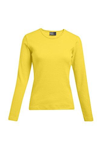 Promodoro Interlock Langarmshirt Plus Size Damen Sale, XXL, Gelb