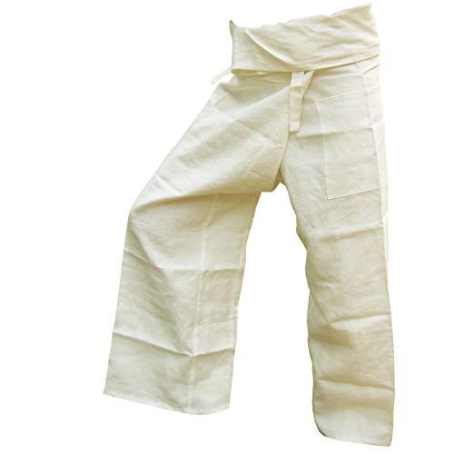 PANASIAM Fisher Pants, 100% Hemp, Cremeton -