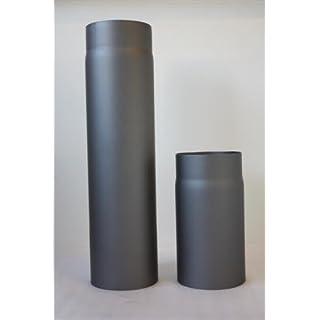 Ø 150 mm Ofenrohr schwarz 500 mm Abgasrohr Rauchrohr