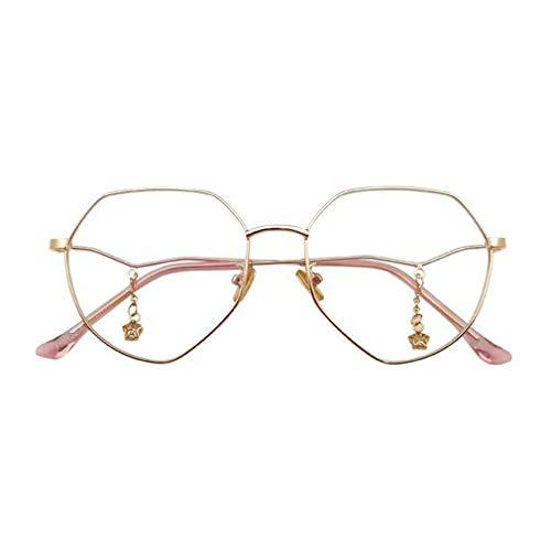 Hibote Männer Frauen Polygon Brille - Transparente Brillengestell - Mode Brillen Eyewear - 19032103