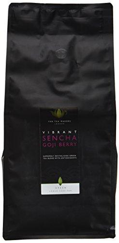 The Tea Makers of London Sencha Gojibeeren Granatapfel Tee von prämiertem Teeshop Geschenkidee für Freundin, 1er Pack (1 x 500 g)