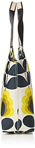 Orla Kiely Summer Flower Stem Classic Zip Shoulder Bag, Sacs portés épaule Orange (Sunshine)