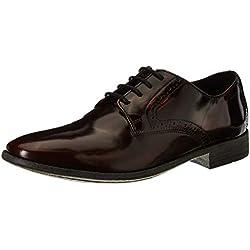 Clarks Men's Burgundy Brush Leather Formal Shoes