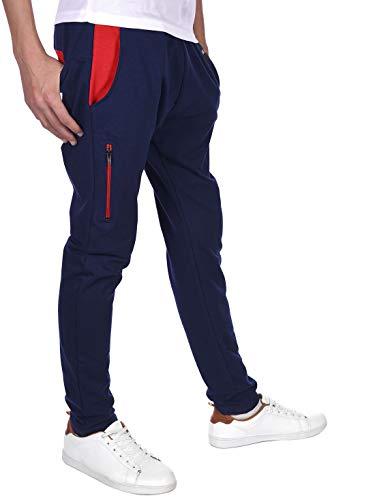 BEZLIT Kinder Jungen Sport Freizeit Stoff Jogging Sweat Hose 30143 Navy-Rot 122