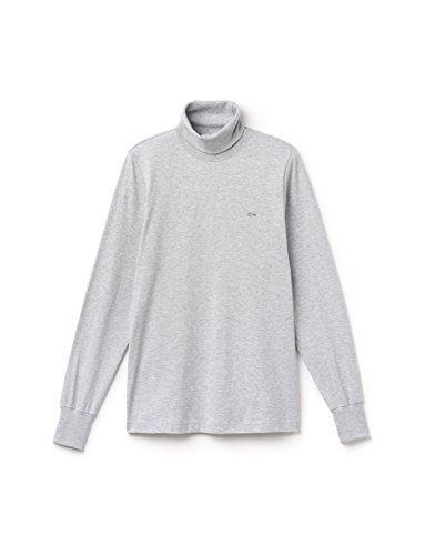 Lacoste Men's Blouse Long Sleeve In Size 7-2Xl Grey (Rollkragen-shirt Mock Neck)
