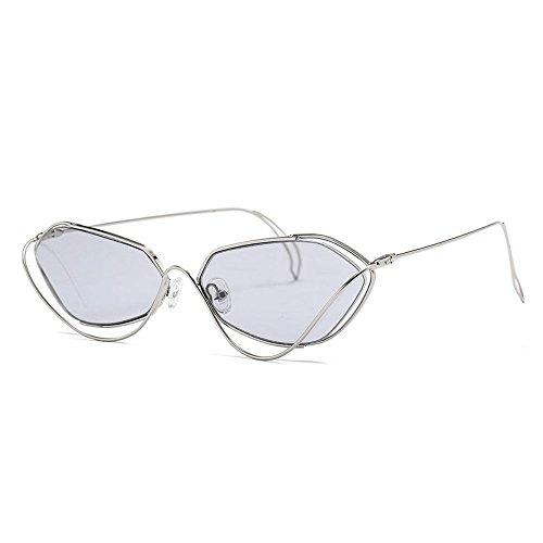 YANKAN Sonnenbrillen für Männer und Frauen-Unregelmäßige Persönlichkeit Sonnenbrillen-Anti-UV-Abschirmung Objektive-für die Stadt zu Fuß Oder gro RS