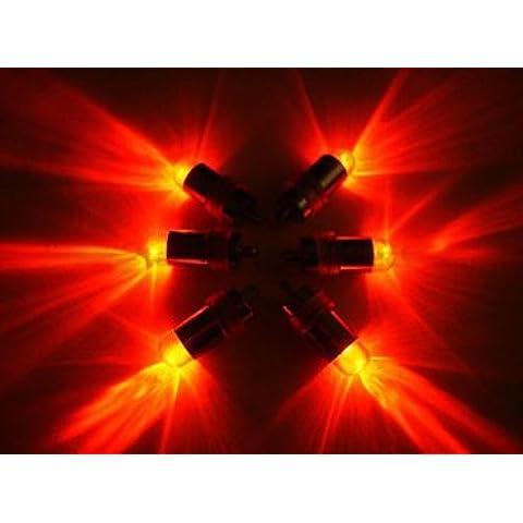 E-Lited goliton sumergible Mini Led luces de fiesta de la boda de la pieza central de gran tazón de globo y linterna roja , 10 unidades