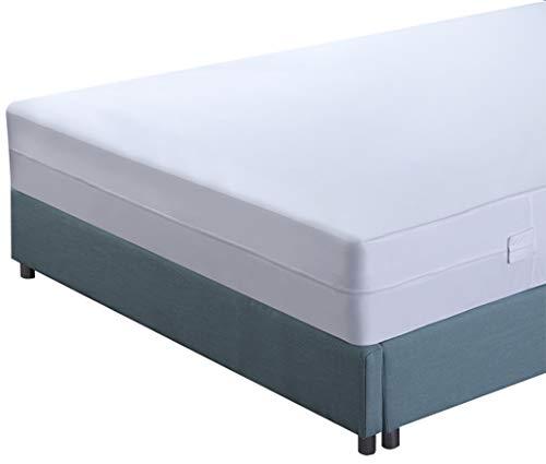 Utopia Bedding Premium Matratzenschoner mit Reißverschluss - Wasserdichter Matratzenschoner - Matratzenhöhe 15-25 cm - Schutz vor Flüssigkeiten, Insekten und Milben (90 x 200 cm) (Tasche Matratze Bug + Bett)