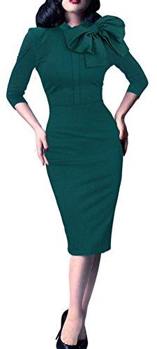 SunIfSnow Damen Schlauch Kleid, Einfarbig Gr. M, grün (Pencil Metallic Skirt Lace)