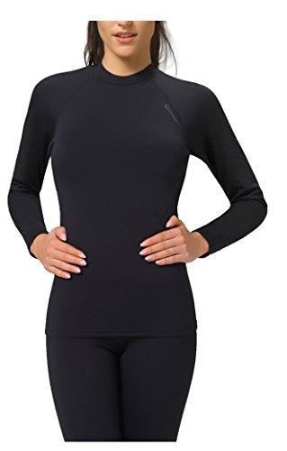Damen Thermo Funktionsunterwäsche Warmline, Sportunterwäsche Langarm Shirt von Gwinner, Top I, schwarz, L