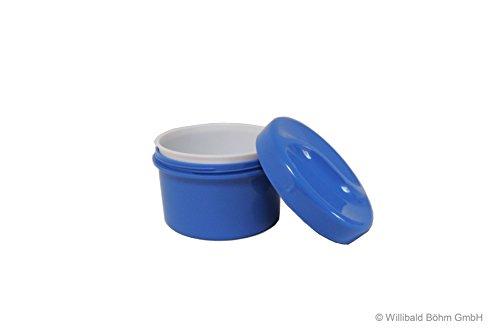 Zahnspangendose mit Einsatz, pastell-blau, Sonja-PLASTIC, Made in Germany