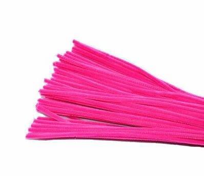 100Stück Fäden Chenille/Pfeifenreiniger für Freizeit Kreative Handwerk Art Farben sortiert (6x 300mm, mehrfarbig)
