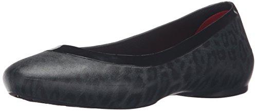Crocs Crocs Lina Shiny Flat, Ballerines femme Noir (Black/Black)