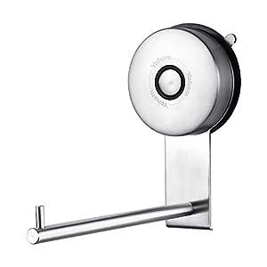 YOHOM Portarrollos de Papel higiénico con Ventosa Dispensador Soporte para Rollo de Papel higiénico y toallero de Acero…