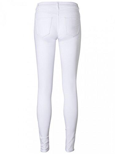 Noisy may Damen Slim Jeans White