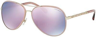 Chanel CH4219Q PILOT CHAIN PALE GOLD/PINK (C3955R) - Gafas de sol