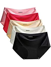 PLUMBURY® Women's Seamless Ice Silk Panties (Pack of 3)