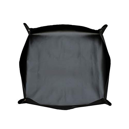 TELLW Multi-Fleisch Wechselbecken Kissen Gartenbau Wickelauflage Haushalt Wasserdicht PE Betrieb Boden Pad Flip Becken Wechsel Erde Blume Pad Multi-Fleisch Werkzeug, Oxfordgewebe, Schwarz, 75 * 75cm