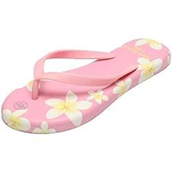 Damen Flip Flop Flach, FNKDOR Slipper Badeschuhe Zehentrenner Pantoletten Schuhe (39, Rosa)