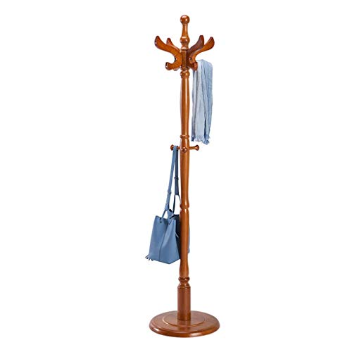 HAIYUGUAGAO Garderobe Hall Tree Coat Hat Rack Freistehende Moderne Eingangsbereich aus Holz Kleiderständer Hut Ecke Hall Umbrella Stand Baum für Schlafzimmer Wohnzimmer Büro (Color : Light Brown) - Tree Coat