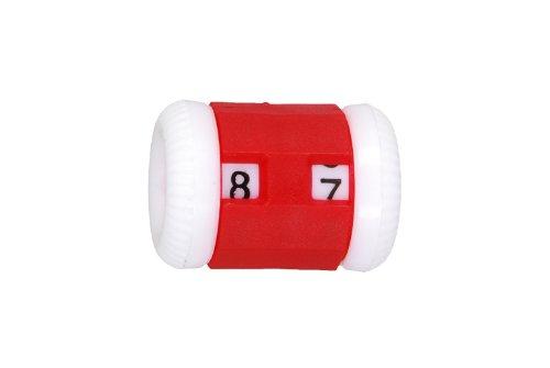 KnitPro - Contador de hileras (4,5 - 6,5 mm, tamaño grande), color rojo