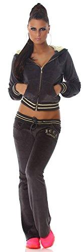Jela london jogger pantalon & veste avec capuche Gris - Gris foncé