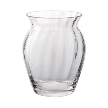 30cm in height * * BRAND NEW DARTINGTON CRYSTAL GLASS STEM WIBBLE VASE