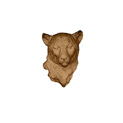 Wand-Charmers Kunst-Kostüm, Leopardenmuster, handgefertigt, Heimdekoration, Landhaus-Dekoration, Schlafzimmer, Deko, Badezimmer, Büro, rustikal, Wanddekoration, rustikale Dekoration Modern Bronze
