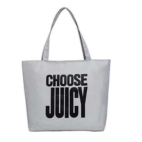 Damen Umhängetasche Shoulder Bag Handtasche Schultertasche Satchel Schulter handbag Rucksack,Mode Frauen Brief Leinwand Candy Farbe Griff Taschen