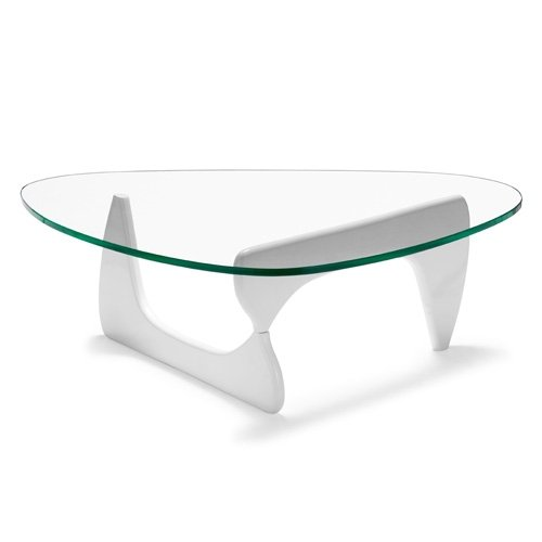 TABLE NOG-BL, SOL, LAQUÉ BLANC, PLATEAU EN VERRE DE 15 MM. 125X90 CMPRETTY CONFORTABLE