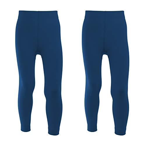 Celodoro Kinder Thermo Leggings - Doppelpack Blau 122-128