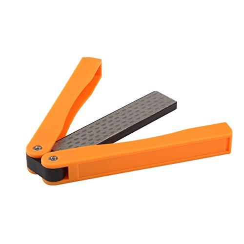 LF Stores Messerschleifer Doppelseitiger Schleifstein Outdoor Diamond Folding Fast Fixed Angle Sharpener Blade Special Messerschärfer (Color : Orange, Größe : 13cm) Edge Folding Blade