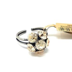 KONPLOTT Ring Disco Balls, Metall verstellbare Ringschiene Glas beige -5450527640749
