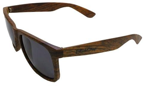 Blackstrap Tägliche Treiber Sonnenbrille, Holzmaserung, grau