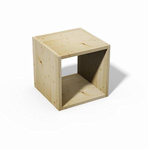 Tosend Servizi sas Scafale libreria a cubo in lamellare di abete grezzo sovrapponibile cm 40 - Da verniciare a piacere