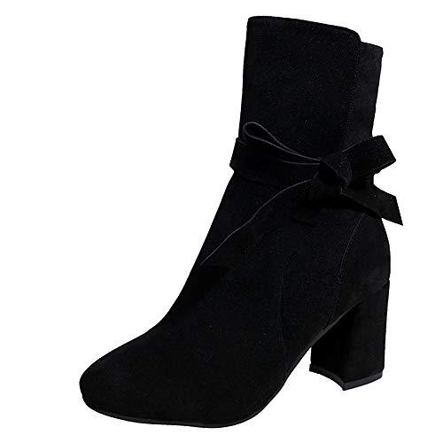Stiefel Absatz 5Cm,Winter Stiefel Stiefel Absatz Leder Boots Mädchen 36 Stiefeletten Damen Stiefel Bootsschuhe Damen Stiefel Schwarz Stiefeletten Absatz Warme Schuhe Outdoor Stiefeletten Felicove