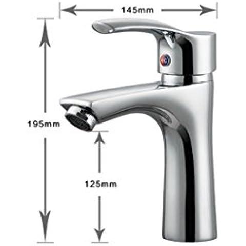 jylw tutti rame, miscelato con acqua calda e fredda, tutti rame rubinetto, Rubinetti per lavabo, Rubinetto Retrò lusso rubinetto