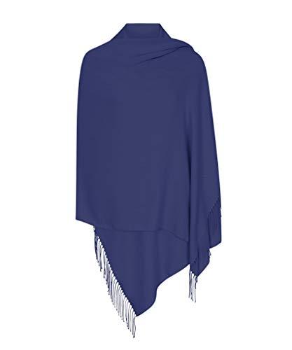 Glückspunkte Blau Hergestellt in Italien (37 Schöne Farben Erhältlich) Pashmina Schal Stola Umschlagtücher Tuch für Damen - Super Weich – Exklusiv von Pashminas & Wraps aus  London