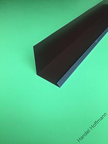 Wandanschlußblech 2 m lang Aluminium farbig 0,8 mm (mittel, Braun RAL 8014)