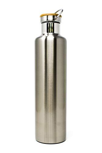 kinddish Edelstahl Trinkflasche Sportflasche Thermoflasche Isolierflasche Thermos Auslaufsicher Isoliert BPA Frei Plastikfrei ECO Bio 350ml 500ml 750ml 1000ml 1L (1000ml)