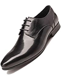 df03e0d2ba85c Británicos Caballero Zapatos De Cuero De Hombres De Negocios Puntiagudos  Zapatos De Vestir Fiesta Marrón…