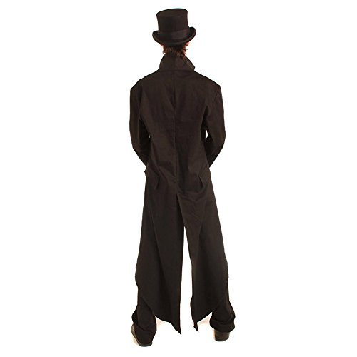 Steampunk Grim Long Mantel (Schwarz) Schwarz