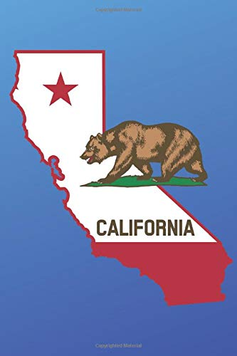 The Bear Flag Journal: A California Themed 6x9 Lined Journal Notebook