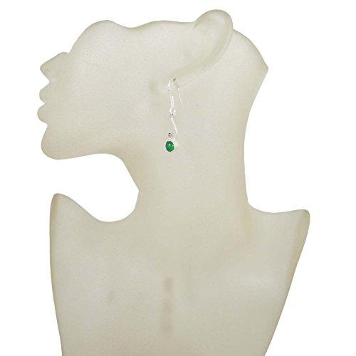 Mode Indien De Couleur Verte Dangle Boucles D'Oreilles Cadeau De Bijoux Traditonal Pour Elle vert-10