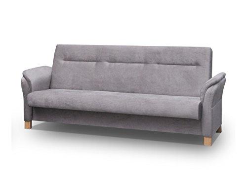 mb-moebel Couch mit Schlaffunktion Sofa Schlafsofa Wohnzimmercouch Bettsofa Ausziehbar – Anna