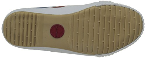 Feiyue Fe Lo Classic, Baskets Basses Mixte Enfant Blanc (White/Blue/Red/Gum)