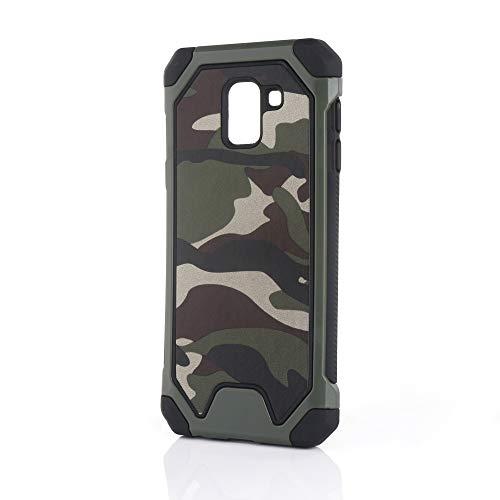 Yutwo Samsung Galaxy J6 2018 Hülle, Military Case Shockproof Hybrid Rugged Outdoor Handy Case [Tarnung Design] Camouflage Handyhülle TPU+PC Bumper Cover Schutzhülle für Galaxy J6 2018 - A#Grün Handy-camouflage-design