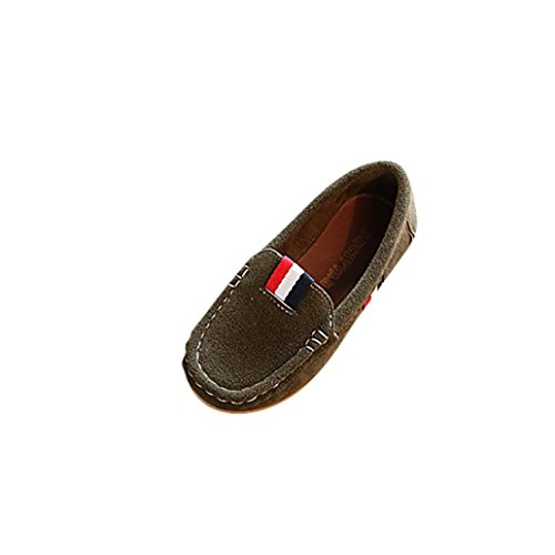 Dragon868 Kinder Schuhe, Unisex Mädchen Jungen Solide Leder Patch Faul Freizeitschuhe,Sommer Frühling,1-4 Jahre Alt (Armee Grün, EU:23) Uggs Große Kinder 7