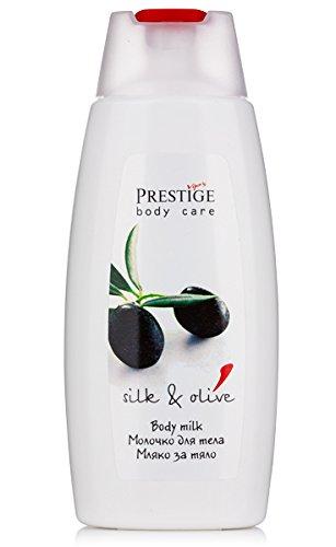 Lait corporel avec des protéines de soie et l'huile d'olive, Vips Prestige.