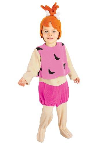 Pebbles Feuerstein Kostüm - The Flintstones Pebbles Kostüm Kinder Kinderkostüm Babykostüm Feuerstein Gr T-M, Größe:M